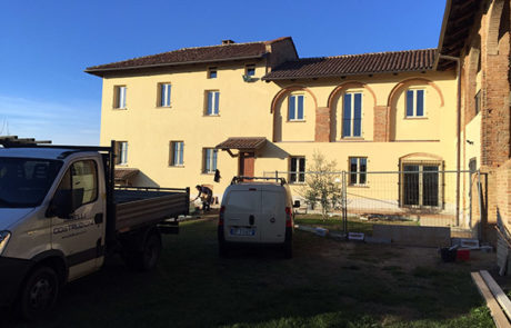 Facciata Ventilata al fine di risanamento estetico - Abitazione Privata - Montechiaro d'Asti (AT)