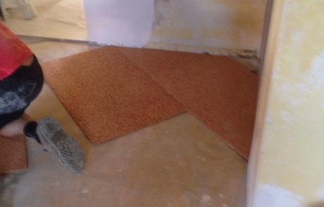 Isolamento Acustico Sottopavimento con Sughero - Condominio - Asti