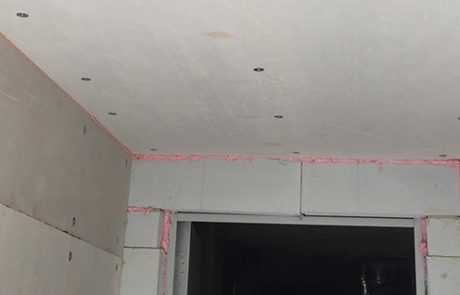 Protezione antincendio con lastre a secco. Condominio. Cortemilia
