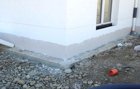 Zoccolatura Coibentata e Impermeabilizzazione - Casa Prefabbricata - Borgo San Dalmazzo (CN)