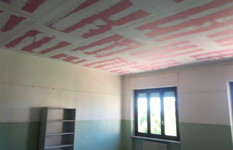 Controsoffittatura Antisfondellamento. Scuola. Narzole (CN)
