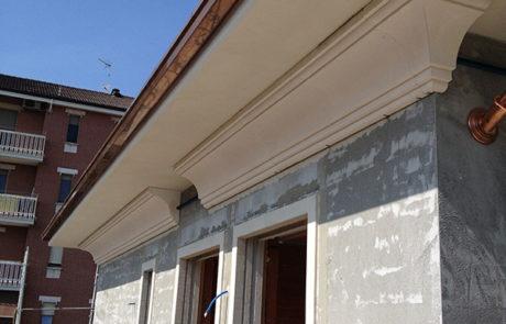 Esecuzione cornicione in opera - Condominio - Nizza M.to (AT)