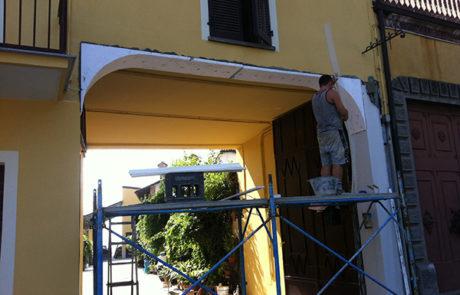 Esecuzione di entrata ad arco in opera - Abitazione Privata - Govone (CN)