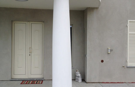 Esecuzione di pilastri rotondi in opera - Abitazione Privata - Govone (CN)