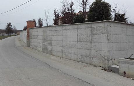 Impermeabilizzazione Muraglione in Calcestruzzo - Abitazione Privata - Nizza M.to