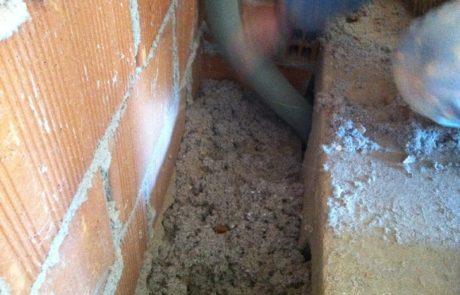 Insufflaggio pareti - sottotetto e sottopavimento con fibra di cellulosa - Abitazione Privata