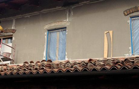 Rasatura Facciata e Rivestimento Colorato - Abitazione Privata - Agliano Terme (AT)