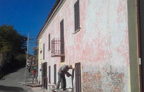 Riqualificazione di facciata. Abitazione Privata. Costigliole